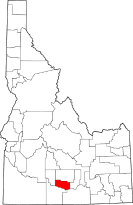 Jerome County highlighted on map of Idaho Counties